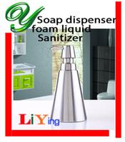 Wholesale Foaming Hand Soap Dispenser Foam Pump Bottle ml Stainless Steel Shampoo Lotion Sanitizer bathroom accessories kitchen hotel supplies