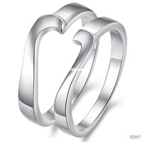 puzzle ring - Jewellery Rings jewelry love puzzle lovers platinum plated ring dj917