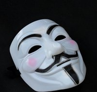 Wholesale Party Mask Halloween Mask Party Masks for Men New V for Vendetta Anonymous Movie Guy Fawkes Mask Halloween Cosplay V Masks