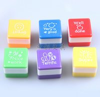 Wholesale Cartoon children seal set Kindergarten award stamp Vivid and interesting English stamps