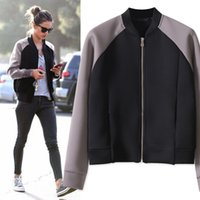 baseball hitting - Good Quality New Fall Winter Space cotton sport jackets women baseball jacket women Hit color casual coat chaquetas mujer WO