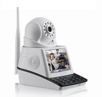 Wholesale Hot IROBOT Dual Audio Talkback H Pan Tilt Visual Video Call HD IP Camera USB TF Card Store Wireless Wifi