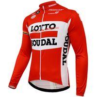 air ride pro - New LOTTO SOUDAL Team Pro Cycling LONG Jersey Cycling Clothing bib Pants Set MTB ROAD Riding Breathing air D gel Pad