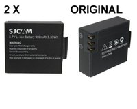 Wholesale 2Pcs original SJCAM Battery V mAh Rechargeable Li ion Spare Battery ForSJ SJ5000 SJ6000 wifi sport Camera