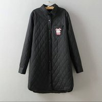 ladies quilted winter coat - The new winter women quilted shirt jacket lady coat