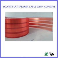 Wholesale High performance super slim cores flat speaker cable with adhesive layer