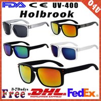 Wholesale DHL New Men s Sports Sunglasses Brand Designer Holbrook Driving Cycling Eyeshade for Men