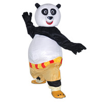 Wholesale Kung Fu Panda Mascot Costume Cartoon Character Costume Kungfu Panda Dress up Costume Adult Size