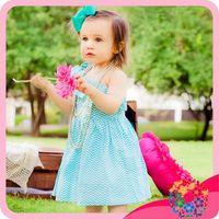baby smocked dresses - Hot style chevron dress baby single shoulder smocked dress for girls baby girl party dress