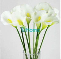 Wholesale Hot Sale Calla Lily Bridal Wedding Bouquet head Latex Real Touch Artificial Flower Decor
