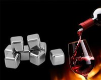 Wholesale Passed SGS safe Stainless Steel Whiskey Stones Cube Glacier With Plastic Storage Box Tongs Drink Chilling Reusable Whiskey Ice Cubes