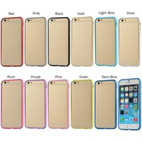 Wholesale Unique DesignCell Phone Bumpers Ultra thin Excellent Protection Metal Cellphone Bumper Best Cell Phone Accessories For iPhone Plus
