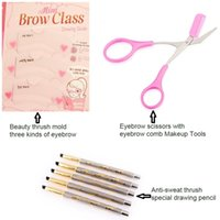 assistive device - Beauty dedicated eyebrow shaping affordable Set thrush assistive devices beauty thrush special pen eyebrow scissors tool