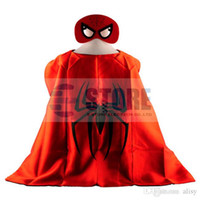 batik supplies - Super Hero Costume for Children w Cape Mask Multi Heros Halloween Birthday Party Supplies pc set