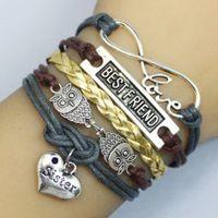 best believe - Hot charm fashion jewelry owl infinite love Friendship SISTER BEST FRIEND believe dream sports teams Bracelet
