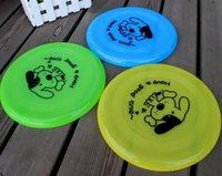 Wholesale R H Plastic Puppy toy Dog Frisbee Flying DiscTooth Resistant Outdoor Large Dog Training Toy drop shipping
