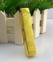 Metal bar simulation - Good rectangular creative lighter simulation rectangular gold bar flame lighters for cigatettes
