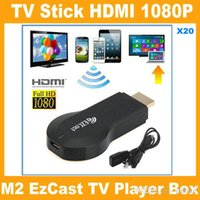 Cheap iPush TV WiFi HDMI Dongle EzCast M2 W2 Miracast DLNA Airplay Receiver 1080P Multi-screen Sharing For Android IOS Windows Smart Devices V762