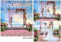 Compra Foto de fondo de muselina-Para 3x4m Fotos de la boda Fotografía de vinilo, fondo Muselina ordenador Impreso Digital Studio paño Fondos Mayores
