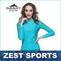 aqua wetsuit - 2015 UV wetsuit UPF50 sun protection clothing split wetsuit Aqua blue flowers shirt fight