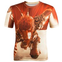 animations hop - w151212 Hot Sale Hip Hop Tee Tops Comic and Animation D Printing T shirt Monkey King Hero Is Back Men Fashion T Shirt