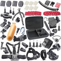 Wholesale Gopro Hero Camera SJ4000 SJ5000 SJ6000 Sport Camera Accessory Kit Car Suction Cup Mount Holder Rotary Clip Mount