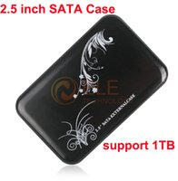 Wholesale USB quot SATA Hard Drive External Case Enclosure Black with Retail Package For Laptop USB