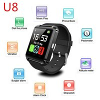 smartphone watches - Bluetooth Smartwatch U8 U Smart Watch Wrist Watches for iPhone IOS S Samsung S4 S5 Note HTC Android Phone Smartphone