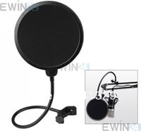 filter pop - 360 Flexible Gooseneck Holder pop filter Studio Microphone Mic Wind Screen Pop Filter Swivel Mount