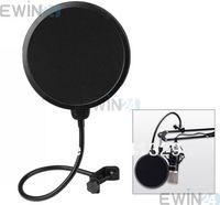 filter pop - 360 Flexible Microphone Mic Pop Screen Studio Wind Windscreen Filter Mask Shield For Broadcasting Recording Singing