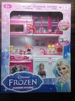 Wholesale Retail Frozen modern kitchen elsa anna mold suit girls princess play house kitchen toys for children christmas gifts HX