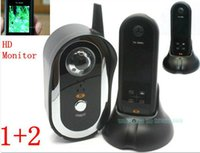 Wholesale HD quot Monitor outdoor camera Wireless Ghz Door Video Phone Camera Viewer Auto Taking Photos
