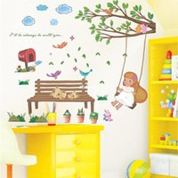 benches for living rooms - 10 home decor Factory direct LM7001 bench girl Korean version of high quality custom wall stickers acceptable