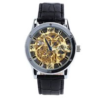 analog meter movement - 2015 The new men s luxury brand watches automatic mechanical movement meters waterproof leather men s watches