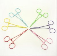 band blade - High Quality Dog Bow Grooming Band Insertion Tool Pet Hemostat Straight Beauty Puppy Products Colors