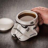 ceramics and pottery - Star Wars Mug Stormtrooper Helmet Darth Vader Helmet Mug D Ceramic Coffee And Drink Cup With Removable Lid