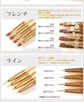 art supplies japan - Cai Ni Supply Japan hat nail art brush Flat brush Round brush Cap brush Steel tube pen