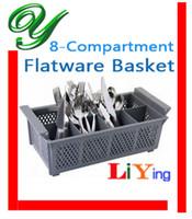 dishwasher - cutlery dishwasher basket plastic storage boxes storage basket Compartment Flatware Basket cm Gray storage bins container rack shelves