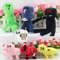 Wholesale Retail Minecraft Plush doll Enderman creeper Mooshroom sheep squid cow Pig Piggy Stuffed toys quot cm styles Cheap