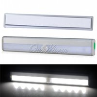 Wholesale Silver Portable LED Sensing Lights Wireless Motion Stick on DIY Night Light Cabinet Battery Operated