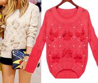 asymmetrical sweater knitting pattern - lassie knitted asymmetrical sweater D pattern Bowtie Bead Yellow Girls Cute Pullover jumper crochet handmade casual pullover