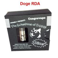 Cheap 2014 Doge RDA Rebuidable Atomizer DOGE Dripper Atomizer Clone Gift Box Packing vs mutation x clt sod 5k dripper little boy rda atomizers