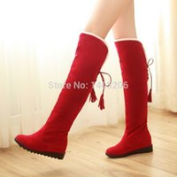 almond canvas - 2015 new style Autumn Winter Fashion Women s Boots ladies sexy Knee high boots long boots Black brown dark brown red