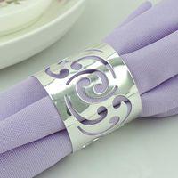Wholesale 500pcs Hollow Flower Napkin Rings Serviette Tablewear Holders Wedding Napkin Rings Party Hotel Table Decoration GX124