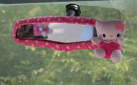 Wholesale High quality softly plush Hello Kitty Car Gear Shift cover Handbrake Seat belt Cover Rearview Mirror for winter car