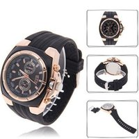 auto exporters - Business men professional watches rubber wrist band black quartz watches good quality China exporter WS