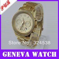 Cheap Free dropshipping fashion alloy metal geneva watch,hot color with crystal,Japan imported PC21 quartz movement 1031#31