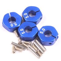 Wholesale Good Quality x Stainless Steel Wheel Hex Hubs Drive for Model RC Cars Blue Car Parts PTCT