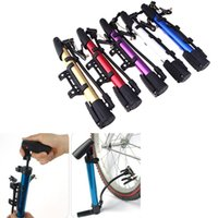 Wholesale 4Colors Portable Bicycle Ball Tire Aluminium Alloy Hand High Pressure Air Pump Bike Accessory
