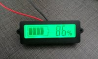 Wholesale 2PCS Battery SOC Tester Checker Monitor Meter With LCD Indicator For Cells Lithium ion V V Lead Acid GEL VRLA Battery